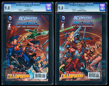 DC VS MASTERS OF THE UNIVERSE #1 CGC 9.8 - 2-BOOK SET - BOTH COVERS - PANORAMIC
