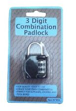 3 Digit Combination Small Padlock Secure Luggage Toolbox Locker Suitcase Code