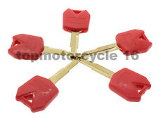 5Red Racing Bike Blank Key Uncut Blade For Kawasaki NINJA 650R/ER-6F/ER-6N ER-5