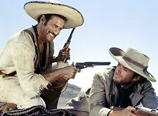 PHOTO LE BON, LA BRUTE ET LE TRUAND -  CLINT EASTWOOD & ELI WALLACH  - 11X15 CM