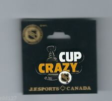 NHL Old Style LOGO Playoffs Stanley Cup Crazy Hockey Licensed Lapel Pin