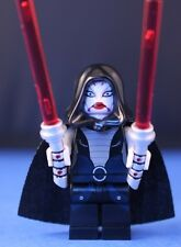 LEGO® STAR WARS™ 7957 minifigure ASAJJ VENTRESS SITH ASSASSIN + 2 custom sabers!