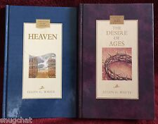 Ellen G White Duo: Heaven ~ The Desire of Ages Hardcover Pacific Press EGW SDA