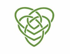 """CELTIC MOTHERHOOD KNOT SYMBOL VINYL WINDOW DECAL LIME GREEN 5"""" MOTHER AND CHILD"""