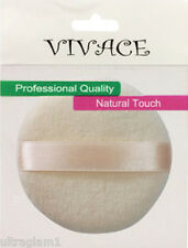 "LARGE 3""/ 75mm BEIGE VELOUR POWDER PUFF/BIG/BABY/BODY/CROSSDRESSER/DRAG QUEEN"