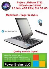 Fujitsu LifeBook T732 i5 3510M Multitouch, 4GB 320GB HD  USB3.0 HDMI Linux