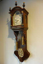 Old Dutch Wall Clock Friesian Old Wall Clock Vintage Antique Nutwood