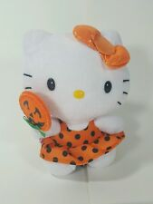 Hello Kitty By Sanrio Halloween TY Original Beanie Baby in a Halloween Dress