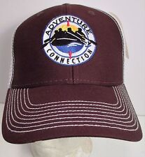 Adventure Connection Trucker Snapback Hat Cap River Rafting California New #brn