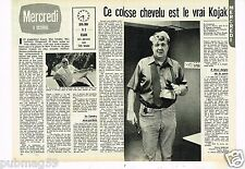 Coupure de presse Clipping 1976 (2 pages) Le Vrai Kojak James C Power