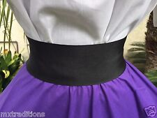 MEXICAN BLACK SASH BELT SIZE SMALL MADE IN MEXICO. FAJA NEGRA CHICA HECHA EN MEX