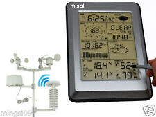 Professional Wireless Weather Station Touch Panel w/ Solar sensor, Wind Speed