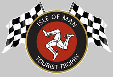 ISLE OF MAN TOURIST TROPHY ILE DE MAN TT AUTOCOLLANT STICKER 12cmX8cm IA076