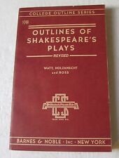 College Outline Series: Shakespeare's Plays Revised (Paperback, 1947)