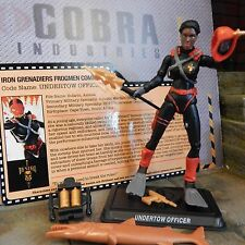 GI JOE ~ 2015 UNDERTOW OFFICER IRON GRENADIERS VS TIGER FORCE ~100% & FC joecon
