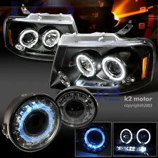 2006-2008 Ford F150 LED Projector Headlights+Smoke Halo Fog Lamp