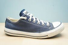 Converse Mens Size 7 UK All Star Classic Chuck Taylor Blue Low Shoes Trainers