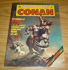 Savage Sword of Conan (UK) #1 VF boris vallejo cover - complete with poster 1977