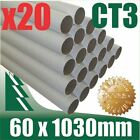 20 x Cardboard Mailing Tubes 60 x 1.5 x 1030mm includes end caps BULK BUY