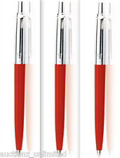 Parker Set of 3 Jotter Standard CT Ball Pen Red Body Color Brand New Sealed