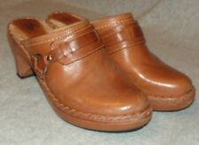 FRYE  leather slides mules harness clogs shoes 8M  Tan