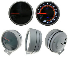 "5"" AC Autotechnic S7 3D Gauge Stealth Black RPM Tach Tachometer shift light"