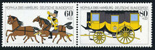 Germany B634-B635a pair, MNH. Coachman, horses, Stagecoach, 1985