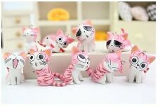 1set 9 X pink cute Japan cartoon cat Charms pendants DIY Jewellery Making crafts