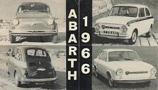 Abarth Fiat 500 595 OT850 OT1000 Coupe 1966 UK Market Foldout Sales Brochure