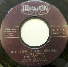 THE COOKIES 45 Girls Grow Up Faster than Boys DIMENSION Soul #A763