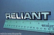 Genuine 1981-1982-1983-1984 Plymouth Reliant Reliant Name Trunk Lid Emblem.