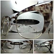CLASSIC VINTAGE RETRO CAT EYE Style Clear Lens EYE GLASSES Gray Tortoise Frame