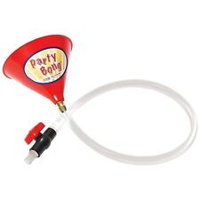 """Party BongTM Large Single Beer Bong Funnel w/ Valve and 40"""" Tube, Red, 1"""
