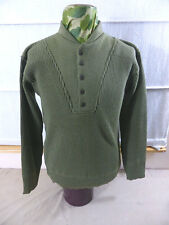 NEW - XL/ US ARMY WW2 Uniform Winter Pullover OD Sweater High neck 5 button