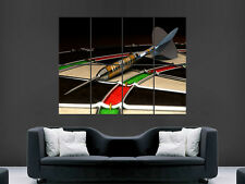 DART BOARD MACRO  GIANT   WALL POSTER  PICTURE PRINT LARGE HUGE