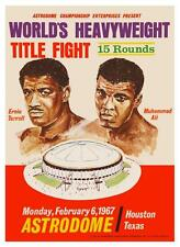 Muhammad Ali vs Ernie Terrell POSTER BOXING 1967 Heavyweight Championship Fight
