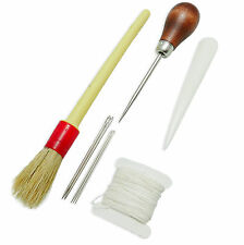 Kujiri Bookbinding Kit - Glue Brush, Awl, Bone Folder, Needles and Linen Thread