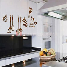 Adesivo da Parete Cucina Felice Happy Kitchen Design Forbice Guanto Wall Sticker