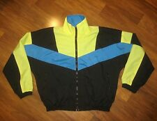 Vtg 80s 90s PETER J Color Block Mens SMALL Windbreaker neon Jacket Track Coat S