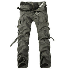 Stylish Mens Combat  Cotton Cargo ARMY Pants Military Camouflage Camo Trousers