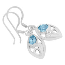 Blue Topaz 925 Sterling Silver Earrings Jewelry E2140B