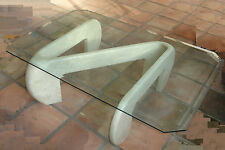 MODERNIST 70s ISAMU NOGUCHI INSPIRED ITALIAN MARBLE SCUPLTURED COFFEE TABLE
