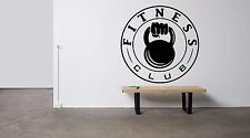 Wall Decor Vinyl Sticker Mural Decal Dumbbells Gym Crossfit Workout Logo FI1147