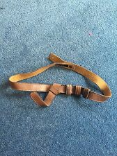 Warehouse Brown Leather Belt - Size Small