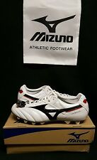 Mizuno Morelia II FG Soccer Cleats MIJ (US Sz 11)White/Black/Red Made in Japan