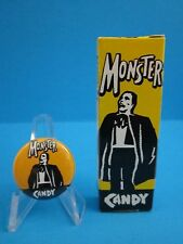 MONSTER CANDY BOX PHANTOM OF THE OPERA & MONSTER CANDY PINBACK BUTTON  (COOL)