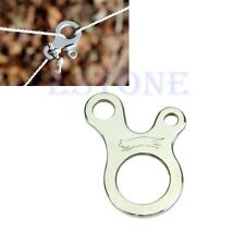 New EDC 3 Hole Survival Buckle Multi-purpose CNC Stainless Outdoor Knotting Tool