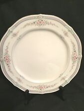 Noritake Rothschild Bread & Butter Plate, Blue Band, Pink Flowers on Ivory