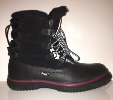 NEW Pajar Women's Iceburg Leather Snow Boots Waterproof Shoes SZ 7/7.5