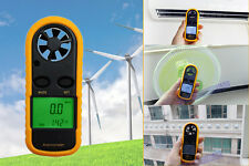 LCD Digital Anemometer Handheld Wind Speed Meter Velocity Gauge Thermomoter Sail
